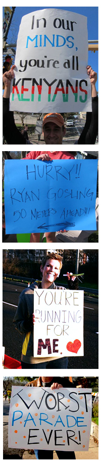 Some of my favorite signs from the half marathon.