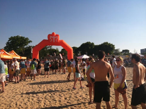 Finish Line at Ragnar Relay Chicago Lakefront