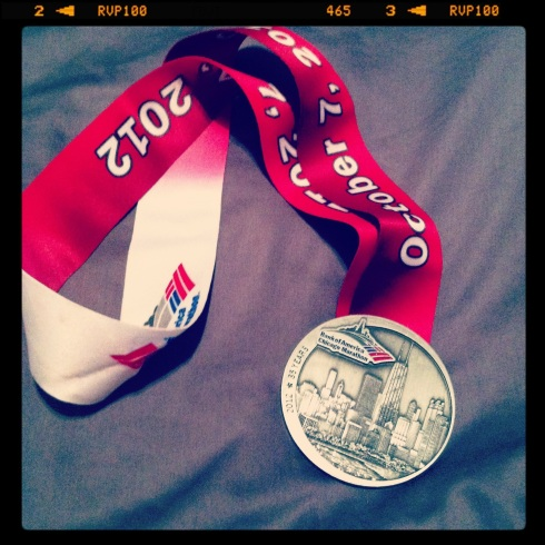 chicago marathon medal